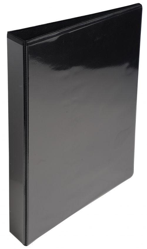 ValueX Presentation Ring Binder PVC 2 D-Ring A4 25mm Rings Black (Pack 10)