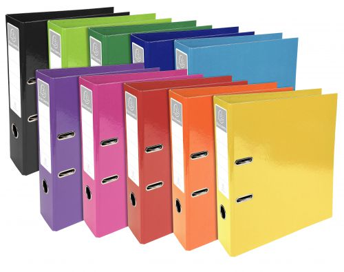 Iderama Lever Arch File 70mm Assorted Metal Finger Pull 2.3mm Board Covered With Dyed Paper Pack 10