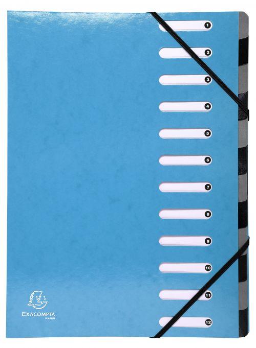 Exacompta Iderama 12 Part File Light Blue 53927E