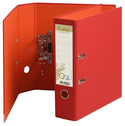 Exacompta Forever Prem Touch Lever Arch File Paper on Board A4 80mm Spine Width Red (Pack 10)