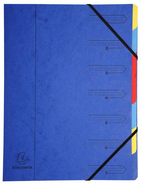Europa 7 Part Organiser Blue 5219Z