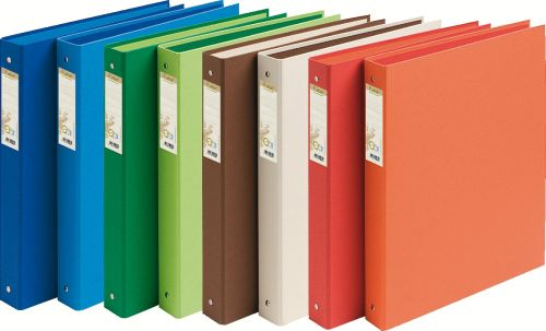 Forever 100% Recycled Ring Binder Paper on Board 2 O-Ring A4 30mm Rings Assorted (Pack 10)