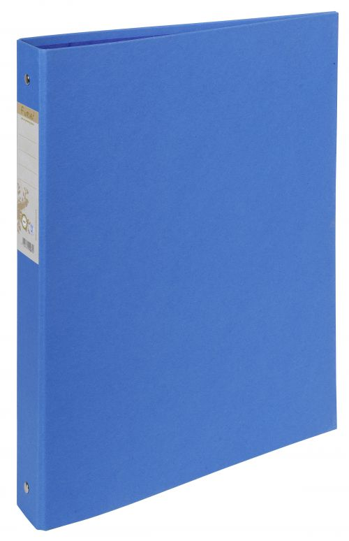 Forever 100% Recycled Ring Binder Paper on Board 2 O-Ring A4 30mm Rings Blue (Pack 10)