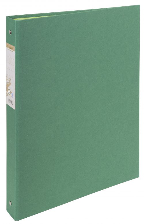Forever 100% Recycled Ring Binder Paper on Board 2 O-Ring A4 30mm Rings Green (Pack 10)