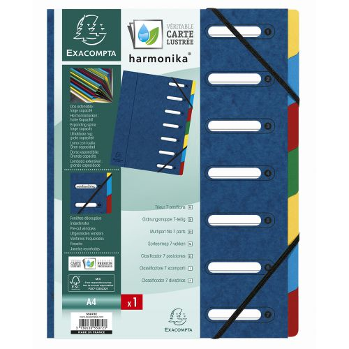 Exacompta Harmonika 7-Part File A4 Blue 55072E