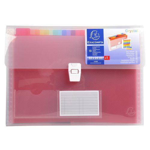 Exacompta 13 Pocket Expanding File Assorted 55298E