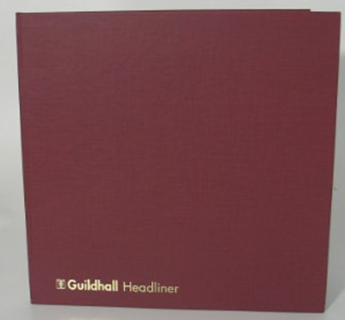 Guildhall Headliner Account Book Casebound 298x305mm 4 Debit 16 Credit 80 Pages Red 58/4-16Z