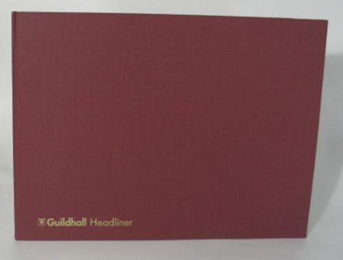 Guildhall Headliner Account Book Casebound 298x406mm 32 Cash Column 80 Pages Red 68/32Z