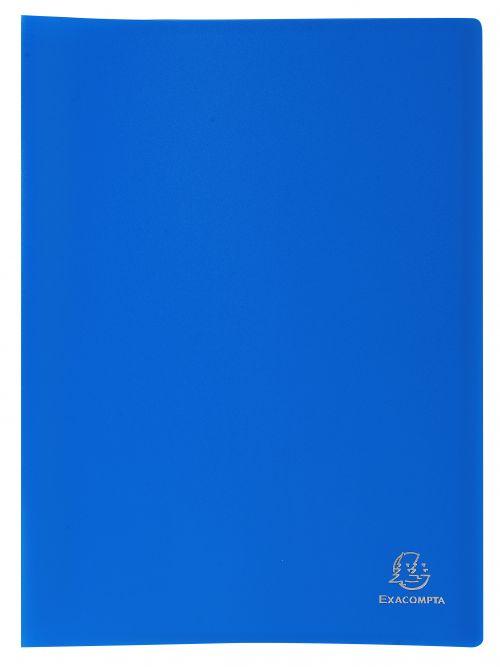 Exacompta A4 Display Book Soft Eco Polypropylene 20 Pocket Blue