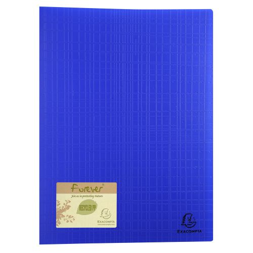 Exacompta Forever Display Book 40 Pocket Blue (Pack of 12) 884572E