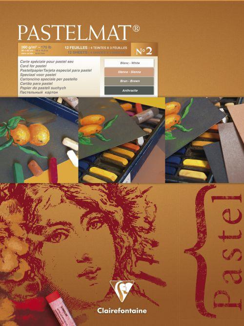 Pastelmat Artist Pad No 2 30x40cm 12 sheets 360gsm 4 Shades 96008C