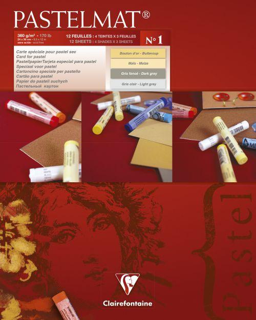 Pastelmat Pad No.1 24x30cm 12sh 360gsm 4 Shades 96017C
