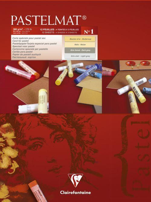 Pastelmad Pad No.1 30x40cm 12sh 360gsm 4 Shades 96018C