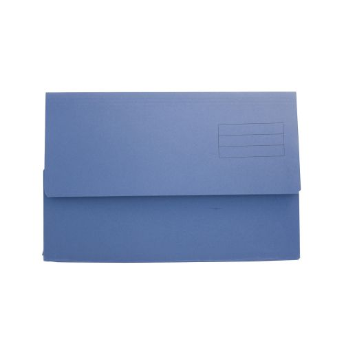 ValueX Document Wallet Foolscap Blue (Pack 50)
