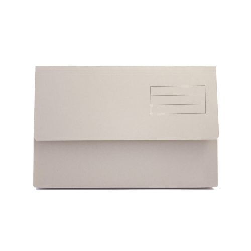 Guildhall Document Wallet Manilla Foolscap Half Flap 250gsm Buff (Pack 50)