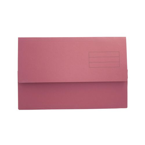Guildhall Document Wallet Manilla Foolscap Half Flap 250gsm Red (Pack 50)