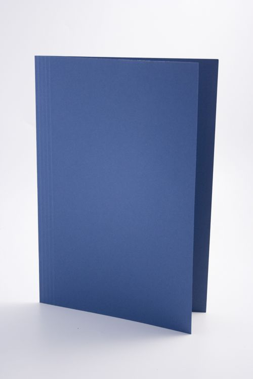 Guildhall Square Cut Folder Foolscap 250gsm Blue PK100