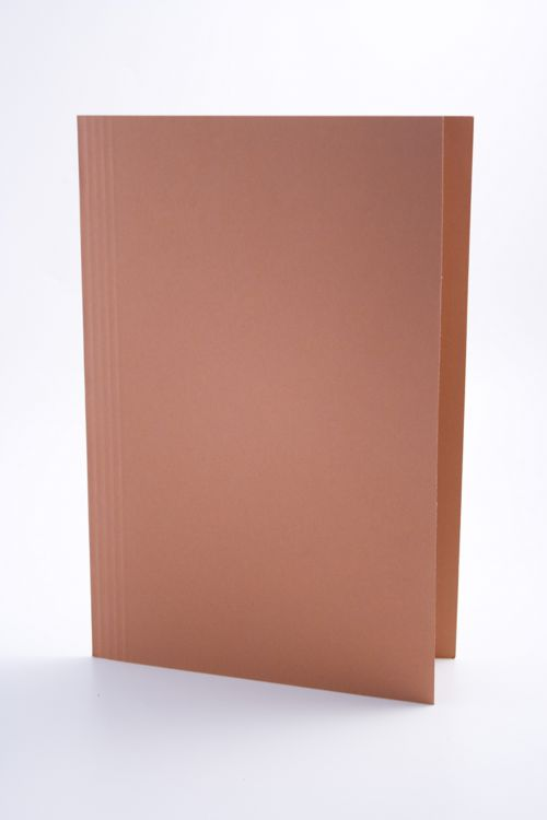 Guildhall Square Cut Folder Mediumweight Foolscap Orange (Pack of 100) FS250-ORGZ