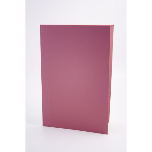 Exacompta Guildhall Square Cut Folder 315gsm Foolscap Pink (Pack of 100) FS315-PNKZ