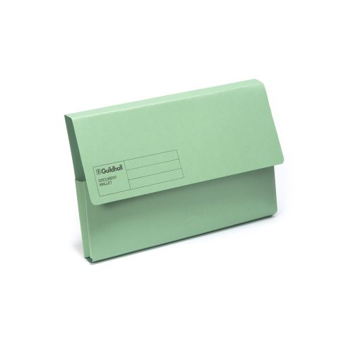 Guildhall Foolscap Document Wallet Green