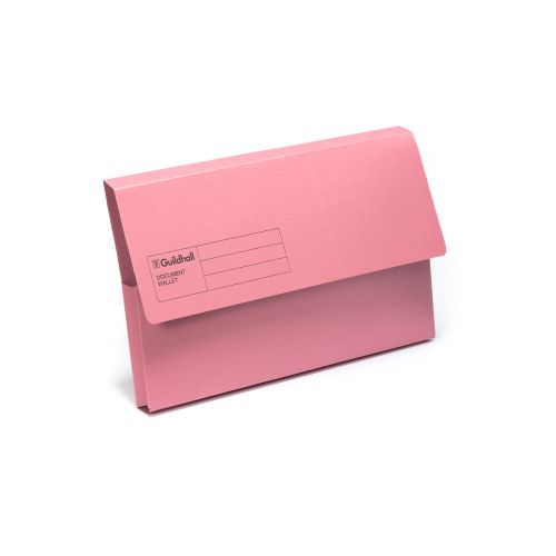 Exacompta Guildhall Document Wallet Foolscap Pink (Pack of 50) GDW1-PNK