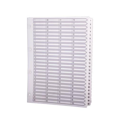 Exacompta A4 Index 160gsm 1-100 White