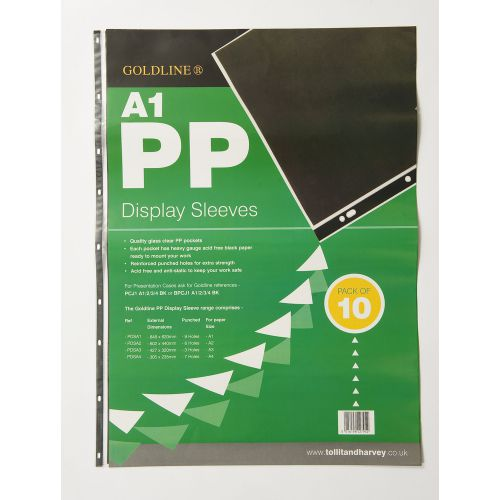 Goldline Polypropylene Display Sleeve A1 (Pack of 10) PDSA1Z