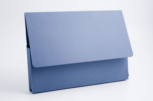 Exacompta Guildhall Document Wallet 285gsm A4 Blue (Pack of 50) PDW4-BLUZ