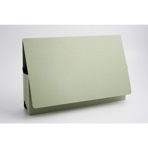 Exacompta Guildhall Probate Document Wallet 315gsm Green (Pack of 25) PRW2-GRN