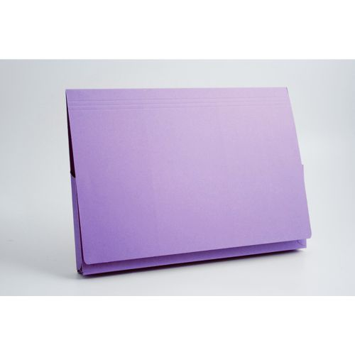 Guildhall Document Wallet Manilla 14x10 Full Flap 315gsm Mauve (Pack 50)