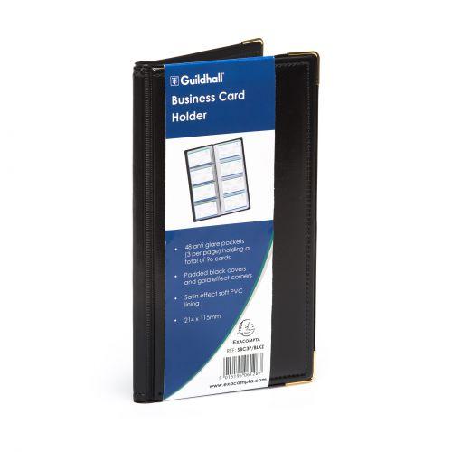 Goldline Business Card Holder 48 Pocket Black SBC3P