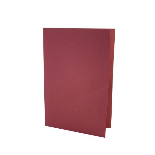 ValueX Square Cut Folder LightWeight Foolscap Red (Pack 100)