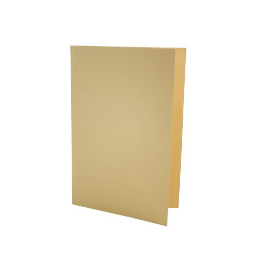 ValueX Square Cut Folder LightWeight Foolscap Yellw (Pack 100)