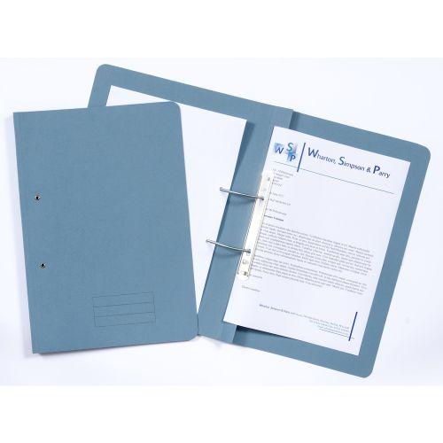 Guildhall Transfer File Manilla Foolscap Blue 285gsm (Pack 25) TFM-BLUZ