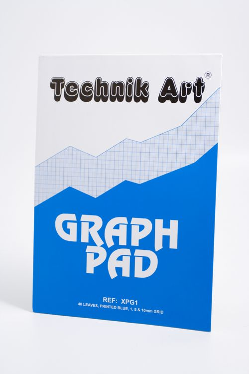 Clairefontaine Technik Art 1/5/10mm Graph Pad 40 Leaf XPG1