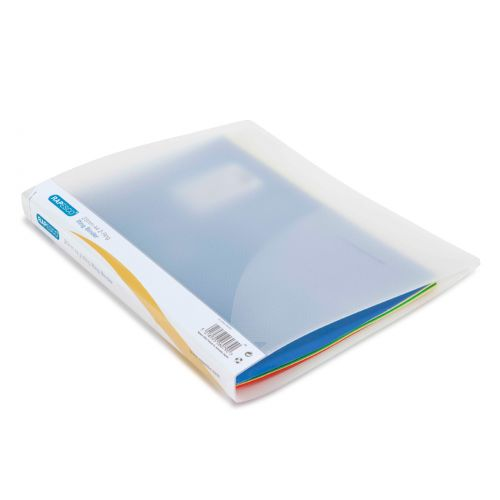 Rapesco Ring Binder Polypropylene 2 O-Ring A4 25mm Rings Bright Transparent Clear (Pack 10)