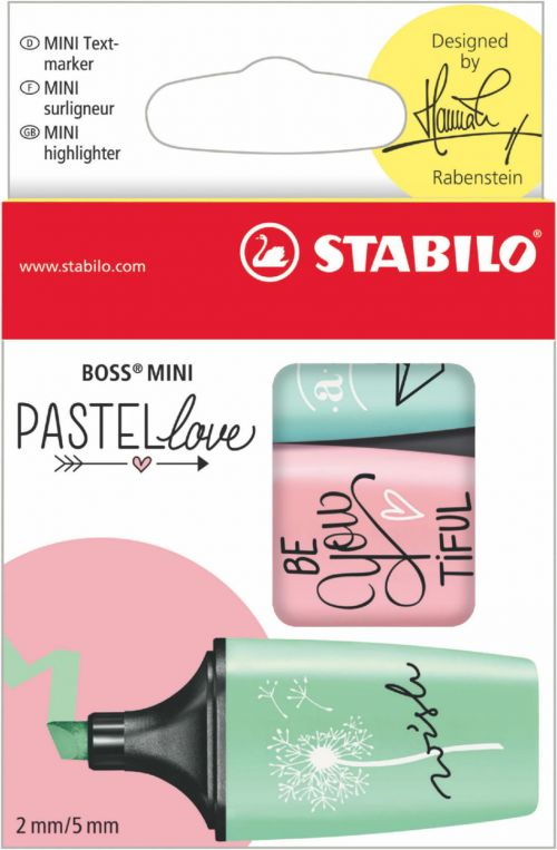 Stabillo Boss Pastellove Highlighters Mint Blush & Turq PK3