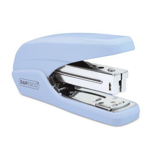 Rapesco X5-25ps Less Effort Stapler 25 Sheets Powder Blue