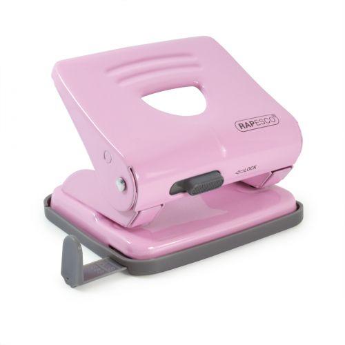 Rapesco 825 2 Hole Punch Metal 25 Sheet Candy Pink