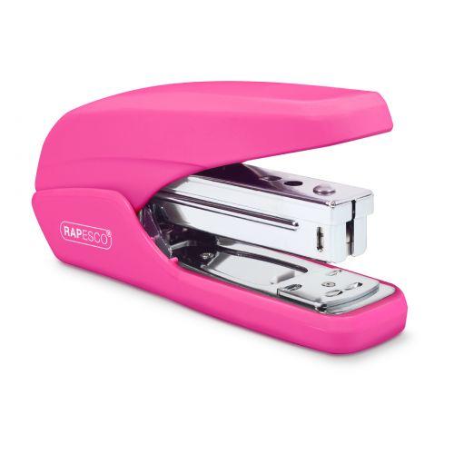 Rapesco X5-25ps Less Effort Stapler Hot Pink