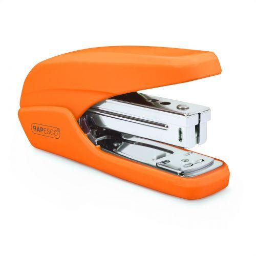 Rapesco X5-25ps Less Effort Stapler Orange