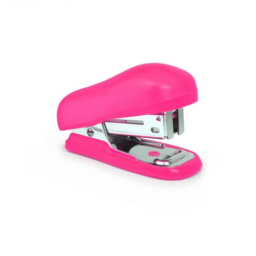Rapesco Bug Mini Stapler Plastic 12 Sheet Hot Pink
