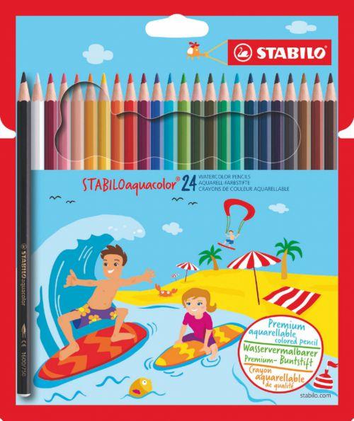 Stabilo Aquacolor Water Colour Pencils PK24