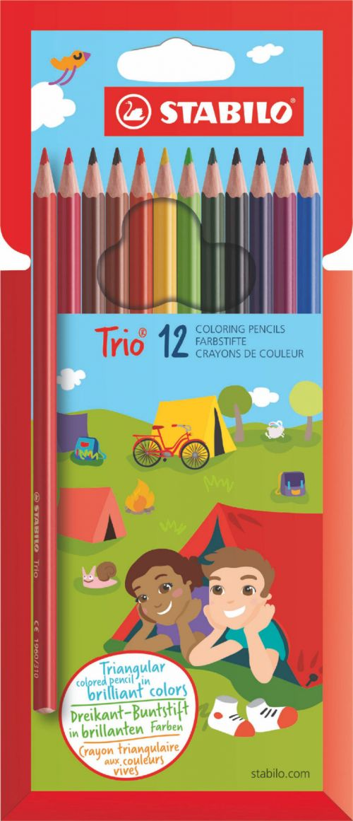 Stabilo Trio Thin Colouring Pencils PK12