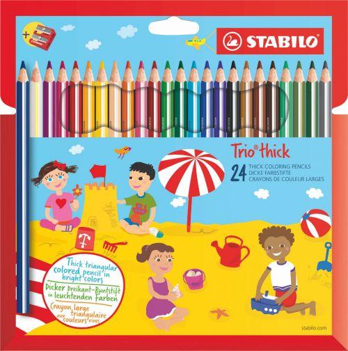 Stabilo Trio Thick Colouring Pencils PK24
