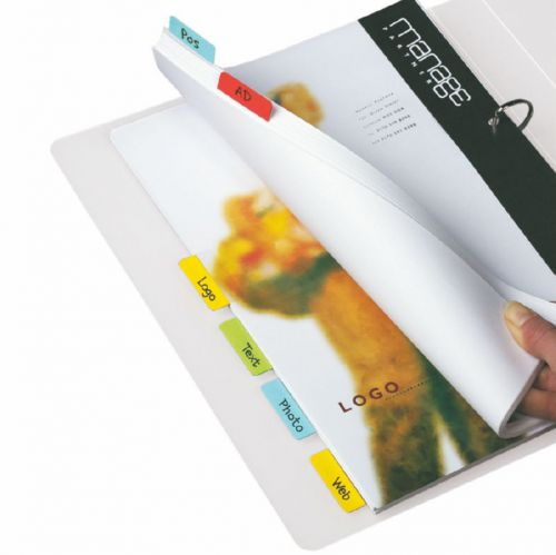 3L Index Tabs Self Adhesive 40mm Assorted 10512 (PK48)