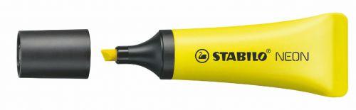 Stabilo Neon Highlighter Pen Chisel Tip 2-5mm Line Yellow (Pack 10)