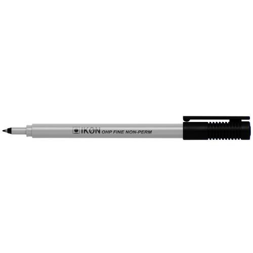 ValueX OHP Pen Non-Permanent Fine 0.4mm Line Black (Pack 10)
