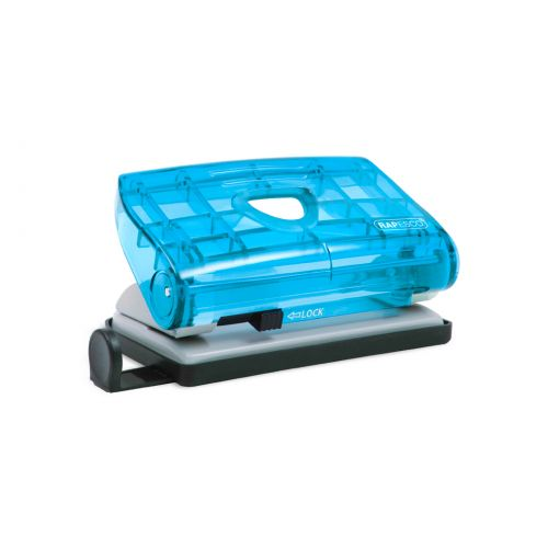 Rapesco 810-P 2-Hole Punch 12 Sheets Assorted Transparent Colours