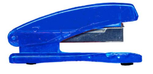 Value Plastic Stapler Half Strip Blue